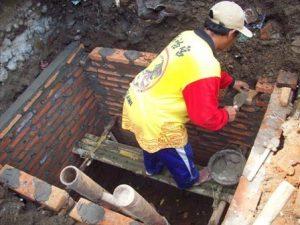 Cara pembuatan septic tank dengan batu bata